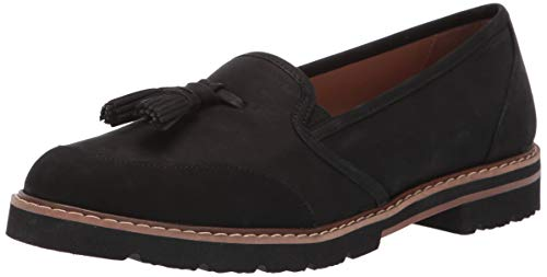 Aerosoles Women's Pen Name Moccasin, Black Nubuck, 6.5 M US