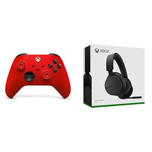 Xbox Wireless Controller, Red Valentine + Xbox Wireless Headset