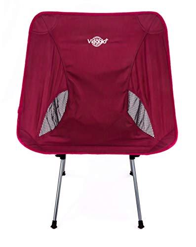 Viaggio+ アウトドア チェア イス 椅子 折りたたみ 背もたれ 軽量 コンパクト キャンプ グランピング(オールワイン)