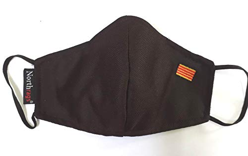 Mascarilla con bandera de Cataluña Lavable y Reutilizable 100% Poliester, Micro-fibra Pack 5