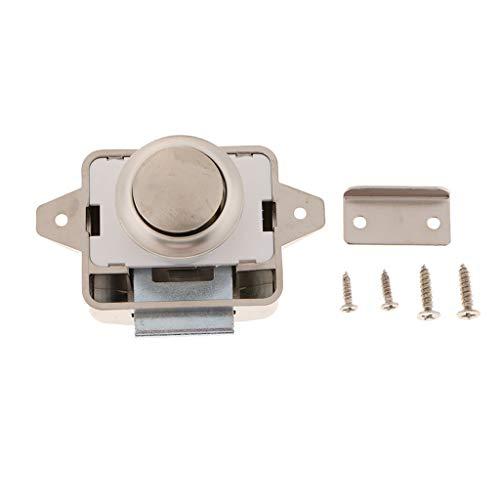 Gazechimp Universal RV Schrankschloss Keyless Push Button Latch Schubladenverschluss Vernickelt