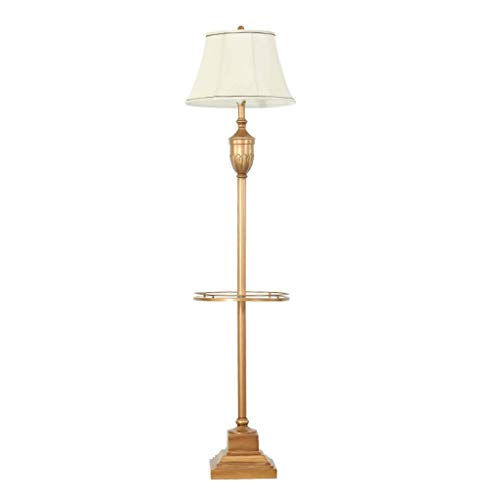 CLJ-LJ Lámpara de pie Resina baja de la vendimia de la lámpara de iluminación interior Lámpara antiguo Adecuado Compatible with sala de estar dormitorio - interruptor de pedal