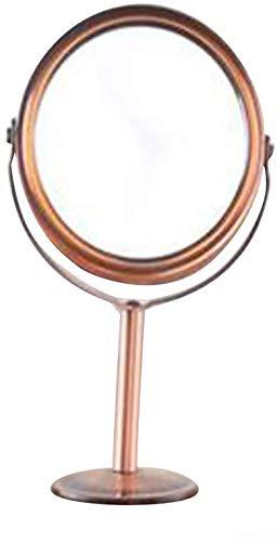 Huazj Schminkspiegel Rund Rotary Schreibtisch Spiegel, einseitig Lupe Freistehendes Kleine Plattform Rasieren/Kosmetikspiegel 3.15 * 5.7inch beweglicher Spiegel (Size : 8 * 14.5CM)