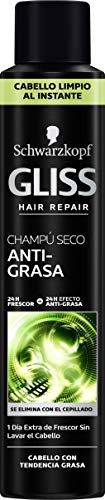 Schwarzkopf Gliss Champú seco anti-grasa, Negro - 200 ml
