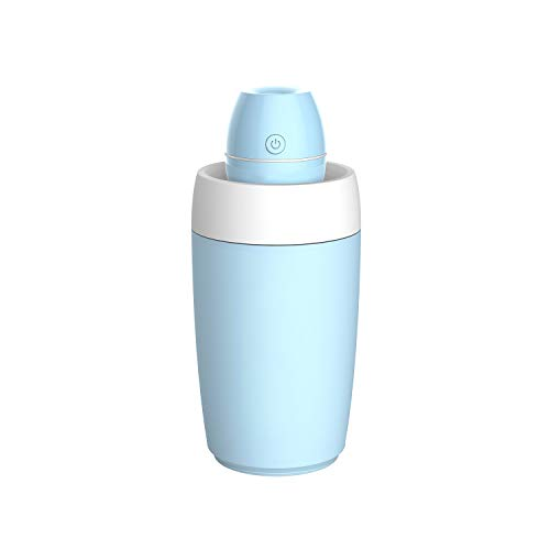 Portable Mini Humidifier USB Cool Mist Ultrasonic Humidifier with Water Bottle Premium Humidifying Unit with Whisper-Quiet Operation Automatic Shut-Off Multi Use for Travel Home Office Bedroom