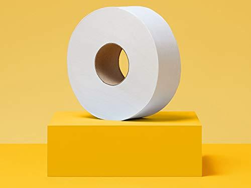 AmazonCommercial Jumbo Roll Toilet Paper, 1000 Feet per Roll, 12 Rolls - 416972