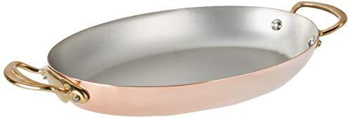 Mauviel 6724.30 M'Heritage M'150B Pfanne, oval, Kupfer, 29,2 cm, Griff aus Bronzefarben