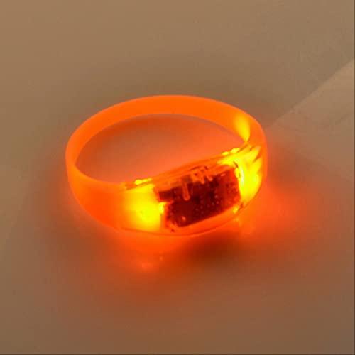 JIUXU Pulsera Led Luminosa De Halloween, Pulsera De Silicona Luminosa con Vibración Acústica, Adecuada para Pulseras De Iluminación De Fiestas Navideñas