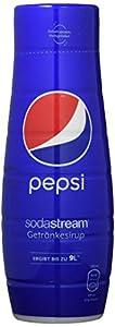 ORIGINAL TASTE: Original Pepsi mit selbst gesprudeltem oder Mineralwasser kinderleicht zu mischen - immer frisch genießen NIE MEHR SCHLEPPEN: 1 Flasche Sirup ergibt bis zu 9 Liter Fertiggetränk - Kein Flaschenpfand - kein Leergut - weniger Plastikmül...
