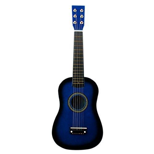 Foxom Kindergitarre, 23Zoll 6 Saiten Holz Kinder Gitarren Spielzeug Musikinstrument Pädagogisches Spielzeug Geschenk für Kinder Junge Mädchen ab 3 Jahre (Blau)