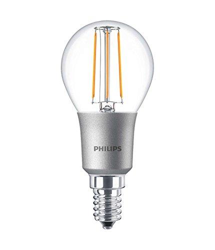 Philips classique LED à intensité variable Blanc chaud vintage Filament Lustre lumière, clair, 4,5 W, E14, Verre, claire, E14, 4.5W 240V