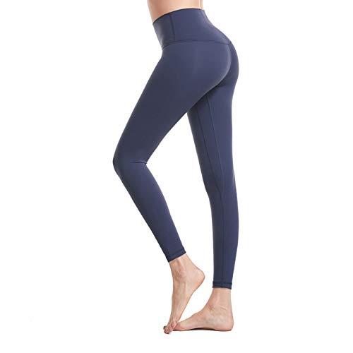 WANGT Leggings De Yoga para Mujeres Mallas Pantalones Deportivos con Bolsillos,Control De Cintura Alta Y Barriga,Elásticos Y Transpirables para Running Yoga Fitness Gym,XXL