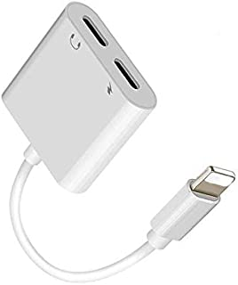 For iPhone Headphone Adapter 2 in 1 Light ning to 3.5mm Audio Jack and Charger Adapter for iPhone 7 7P/8/8P/X,Support IOS 11
