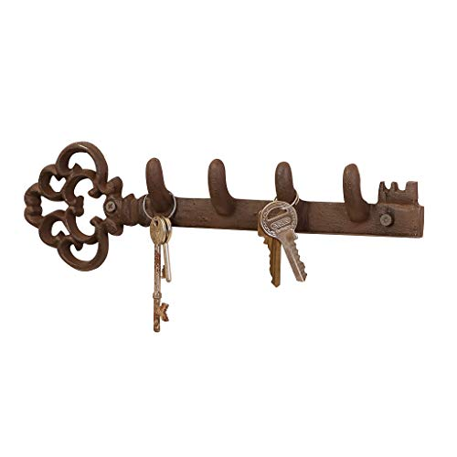 Dibor - French Style Accessories for the Home Appendino per Chiavi in ghisa, a Forma di Chiave, Stile Classico, da 29 cm
