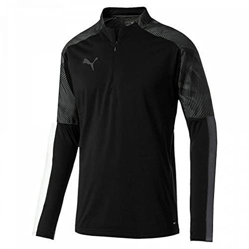 PUMA Cup - Camiseta deportiva para hombre, diseño de fútbol, talla 1/4, color negro, Negro, XXL