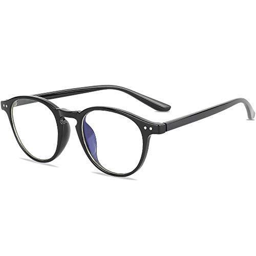 Gimdumasa Gafas para Ordenador Anti luz Azul Antifatiga Sin Graduacion Gafas Luz Azul para PC Gaming Lectura Video Juegos Lentes Transparente Hombre Mujer