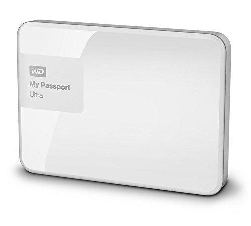 WD My Passport Ultra Mobile Externe Festplatte 6,4cm, 2,5' USB 3.0 mit Hardware Verschlüsselung, Passwortschutz - recertified, Kapazität:1.000GB (1TB), Farbe:Weiß