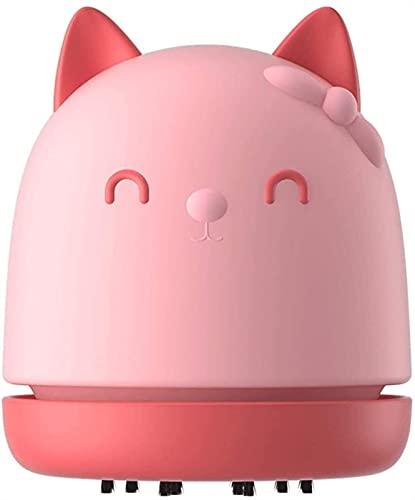 XiuLi Mini aspiradora de Escritorio: barredora de succión portátil, aspiradora Recargable, Confeti de Limpieza, Cabello, restos de refrigerios, sofá, Mesa, automóvil, etc. (Color : Pink)