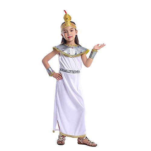 LOLANTA meisjes elegante Cleopatra kostuum oude Egyptische dress-up halloween kostuum geschiedenis thema partij outfits, 8-10 years