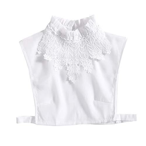 Tandou Fake Kragen Abnehmbare Blusenkragen Krageneinsatz Damen (Weiß)