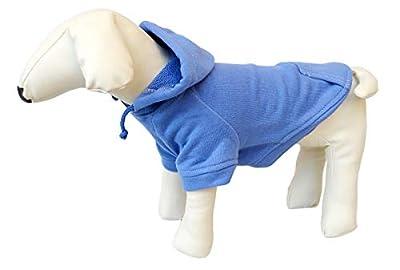 lovelonglong 2020 New Pet Clothing Clothes Dog Coat Hoodies Winter Autumn Sweatshirt For Sausage Corgi Size Dogs 11 Colors 100% Cotton Blue D-L