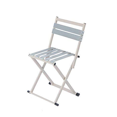 Opvouwbare campingstoel, visstoel, opvouwbare stoel met rugleuning, opvouwbare stoel, klein mazar, opvouwbare draagbare outdoor visstoel, kleine bank, huishoudelijke kleine kruk (Maat: L) Praktische fol