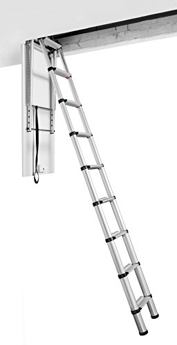 Telesteps 60327 Attic Telescopic Ladder, Loft Maxi, Silber