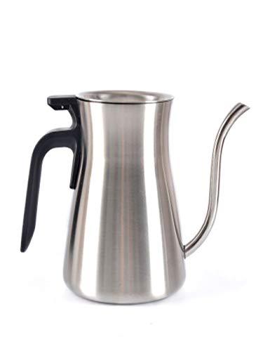 Japanse Stijl RVS Koffie Maker/Druppel Theepot/Hand-Wassen pot Met Teflon Coating voor Bars, Of Home, Zwart en Wit, 2/4 Cup
