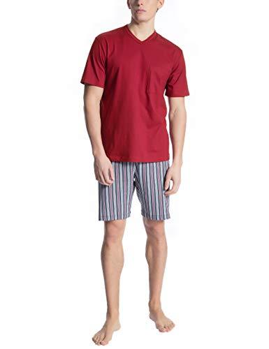 Calida Herren Relax Imprint 1 Zweiteiliger Schlafanzug, Schwarz (Ombre 368), Small (Herstellergröße: S)