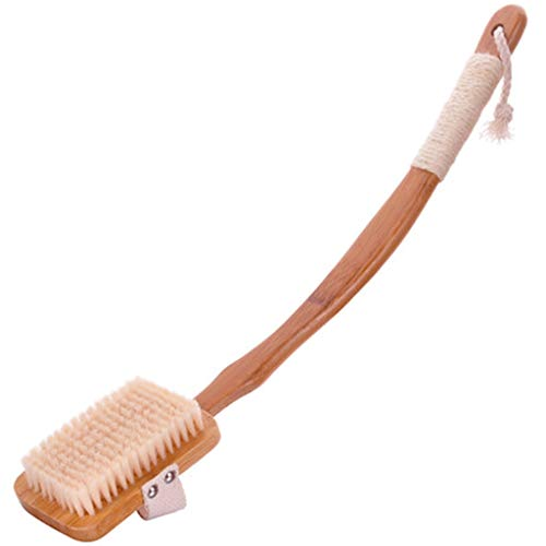TXC- Brosse de Bain Brosse arrière Manches Longues Brosse de Bain Cheveux Doux Brosse de Bain Brosse de Nettoyage exfoliante Confortable (Color : Wood Color)