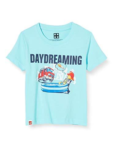 LEGO Jungen cm City T-Shirt, Blau (Light Blue 510), (Herstellergröße:128)