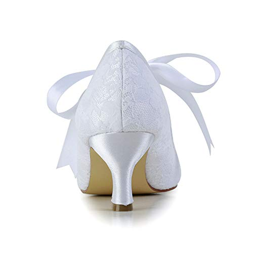 Jia Jia Wedding 14031 Hochzeitsschuhe Brautschuhe Damen Pumps weiß, EU 35 - 5