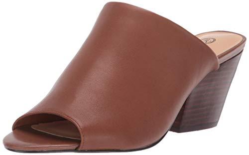 Bella Vita Women's Kathy Mule Sandal Shoe, Tan Leather, 8 2W US