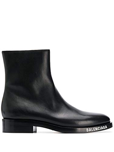 Balenciaga Luxury Fashion Uomo 590717WA6F01000 Nero Pelle Stivaletti | Primavera-Estate 20