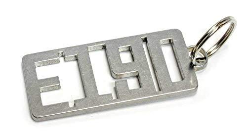 E 190 W201 Schlüsselanhänger Edelstahl Limousine Dub