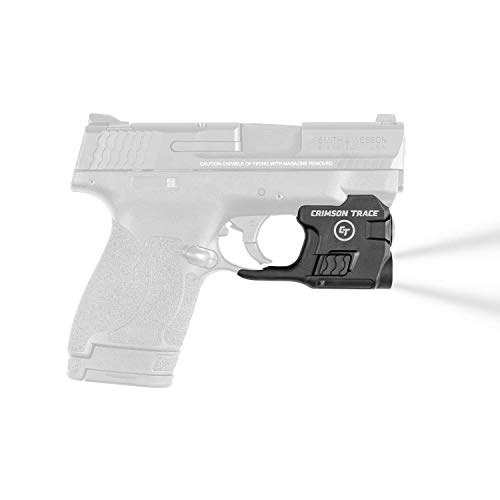 Crimson Trace Tacticle Weapon Mount Flashlight for Smith & Wesson M&P Shield and M&P Shield 2.0, 100 Lumen LED White Light Tactical LTG-770 Lightguard