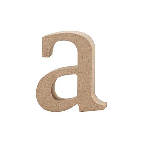 Lettre, h: 8,2 cm, MDF, a, 1 pièce
