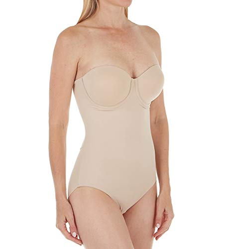 TC Fine Intimates Women's Shape Away Strapless BodyBriefer with Back Magic 4090 34C Cupid Nude