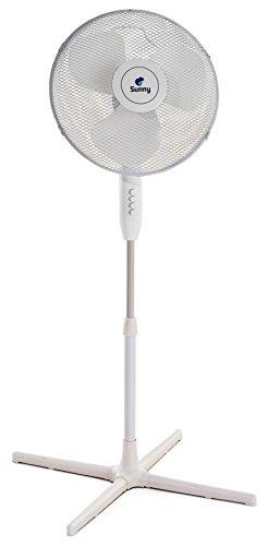 Sunny s060101–08Ventilador lámpara de pie lirio S, 40W, 240V, blanco, pala 40cm