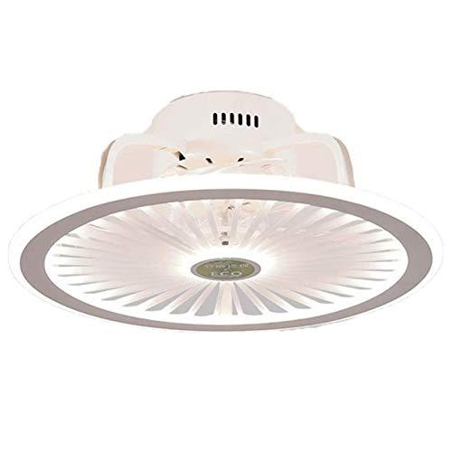 MINGRT Ventilador de Techo con Lámpara LED Luz de Techo Regulable con Ventilador Invisible Dormitorio Salon Ventilador de Silencioso Con Mando a Distancia Lámpara (Color : Pink)