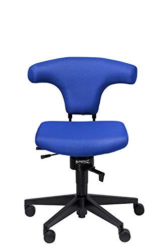 meychair Bürostuhl Bull - mit ergonomischer Rückenlehne, Stoff, blau, Rollen