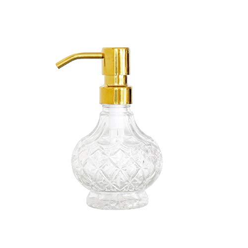 Dispensadores de loción Luz de lujo de jabón de jabón de vidrio de acero inoxidable de acero inoxidable Masaje de cabello cuidado de cabello aceite esencial jabón loción ducha gel jabón ( Color : A )
