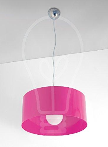 Top Light - Lámpara de techo modelo 1067/S-FU fucsia para dormitorio, sala, baño, cocina