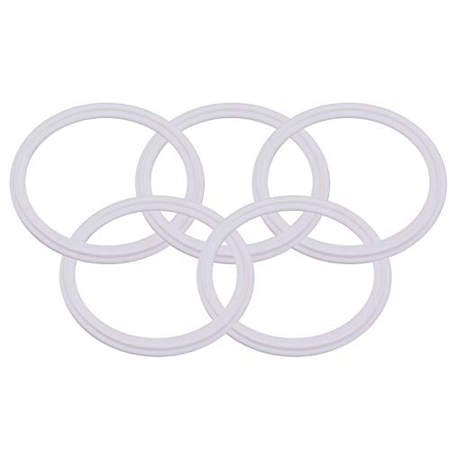 DERNORD Teflon (PTFE) Tri-Clamp Gasket O-ring - 4 Inch Style Fits OD 119MM Sanitary Pipe Weld Ferrule (Pack of 5)