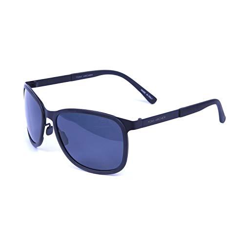 Tom Archer Marco cuadrado gafas de sol, Ultraligero Peso Polarizado Gafas de Sol para Hombre UV400 Protección para la Conducción al Aire Libre Ciclismo Pesca