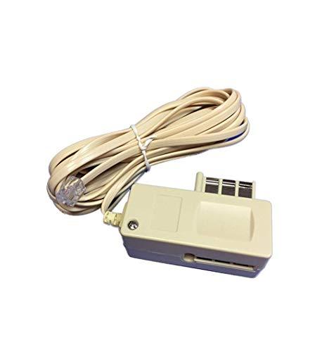 Seguridad Mania-Cable para conexión de alarma con enchufe telefónico-Cable RJ11 ADSL, enchufe encajable, longitud: 5 m.
