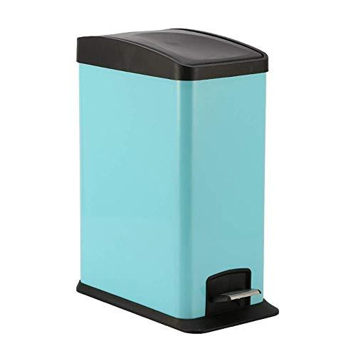 1yess Edelstahl-Pedal-Mülleimer-Deckel-Deckel Kreative Küche Badezimmer Haushaltsspeicher-Mülltonnen-Innen-Trash-Fass (Farbe: Schleifen, Größe: l) (Color : White, Size : Large)