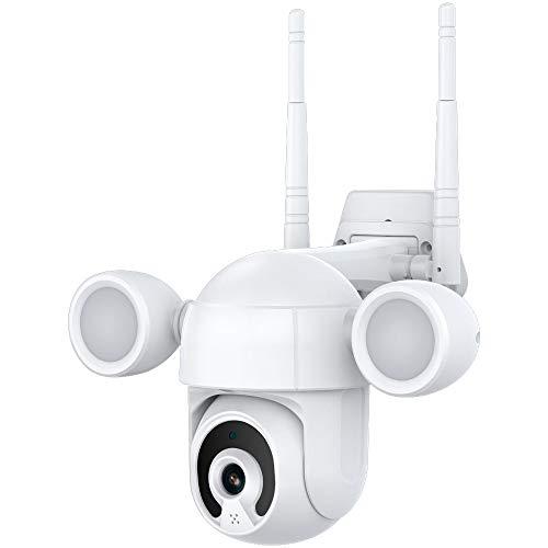 APROTII 3MP Proyector de iluminación de patio cámara inteligente PTZ al aire libre WiFi IP IR IP66 impermeable hogar jardín CCTV cámara de seguridad