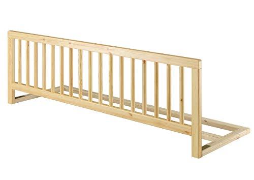 Universeller Rausfallschutz für Betten Kindersicherung Massivholz Bettgitter klappbar 60.Kisi, Holzart/Holzfarbe:Kiefer