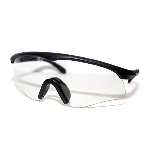 Cobra Taktische Airsoft Brille | Antibeschlag- und Kratzschutz Schießbrille | Schutzbrille | Arbeits- und Ballistikgläser mit schwarzem Rahmen und klaren Gläsern